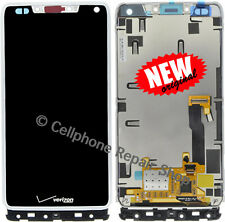 Motorola XT907 Droid Razr M LCD Display Touch Screen Digitizer Panel Frame White