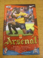 02/05/1999 Arsenal v Derby County  (Excellent Condition)