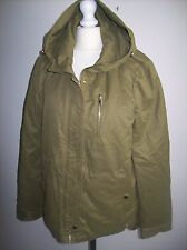 ZARA  PARKA JACKET COAT WITH  HOOD SIZE S UK 8-10