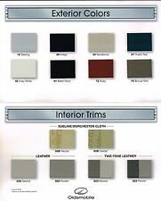 2002 OLDSMOBILE INTRIGUE Color Chip Chart Paint Brochure w/ Leather's