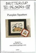 Pumpkin Squatters CP44 Autumn Halloween Counted Cross Stitch Pattern Leaflet