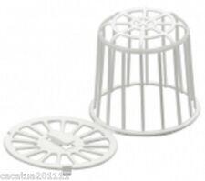 Blanco de plástico reutilizable Nido material soporte X 2 para la pequeña Jaula Aves