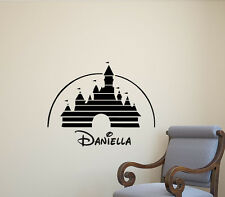 Personalized Name Disney Castle Wall Decal Vinyl Sticker Poster Decor Mural 395
