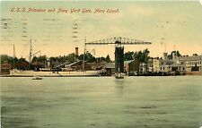 1907-15 Print PC; USS Princeton Mare Island Navy Yard Gate CA Solano Co Posted