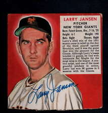 LARRY JANSEN RED MAN CHEWING TOBACCO NO TAB ON CARD AUTOGRAPH SIGNATURE AU9553