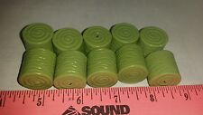Lot of 10 1/64 plastic round bales of hay ERTL farm toy country custom display