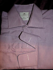 HAWES & CURTIS (WARWICK) FAB DESIGNER PURPLE CHECK BUSINESS/DRESS SHIRT UK 16