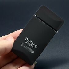 Black Rectangle Cigar Lighter Refillable Butane Gas Cigarette Flame Windproof