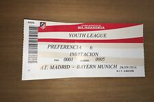 Sammler Used Ticket UEFA Youth League Atletico Madrid FC Bayern München 28.09.16