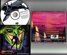 BATMAN BEYOND RETURN OF THE JOKER Rare Soundtrack CD (2000 Animated Movie) Promo