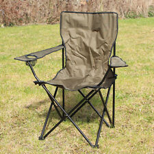 OUTDOOR CAMPING CHAIR - OLIVE - Folding Portable Fishing Beach Garden Seat