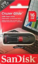 NEW LOT 2 SanDisk Cruzer Glide 16GB USB Flash Drive Thumb Memory Stick 2.0/3.0