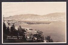 C 1915 Real Photo RPPC Postcard Trout Creek Point SUMMERLAND, British Columbia
