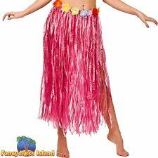 HAWAII HULA GRASS SKIRT 80cm PINK Plus Size FAST POST Womens Fancy Dress