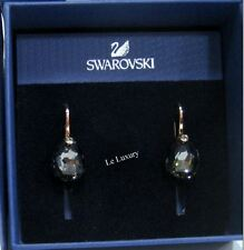 Swarovski Parallele Pierced Earrings, Dark Crystal Authentic MIB 5182601