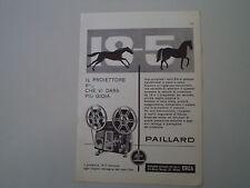 advertising Pubblicità 1960 BOLEX PAILLARD 18-5