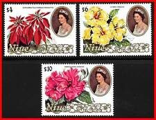 NIUE 1982 FLOWERS high VALUES SC#332-34 MNH CV$24.75 A20