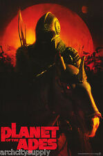 POSTER: MOVIE REPRO: PLANET OF THE APES - APE ON HORSE  - FREE SHIP #PL3 RP93 O
