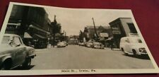 Old Irwin PA. Main Street View GC Murphy's Store & Swenson's Drugs Postcard Repo