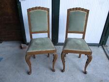 Coppia di sedie stile chippendale in noce primi '900