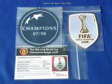 Lextra 07-08 Manchester United Champions League & World Club Winners Patch Set