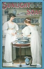 Vintage Style 3D/Embossed Metal Sign Sunlight Soap Ladies Laundry Washroom Decor