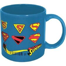 16021 superman Evolution Through The Years Logo Mug 14oz Coffee Tea Cup