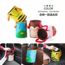 1 Pc Car Portable Storage Bucket Basket Trash Car Container Garbage Bag Foldable