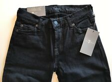 NWT 7 FOR ALL MANKIND Sz24 THE SKINNY JEANS IN BLACK (30 inseam)