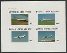 GB Locals - Bernera 2847 - AIRCRAFT - AIRLINERS imperf sheetlet unmounted mint