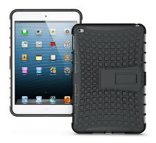 Shockproof Hybrid Silicone Protective Cover Case Hard For iPad mini 4- black