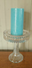 Vintage Pressed Glass Pedestal Candle Holder by Brody Co Cleveland Ohio 9289