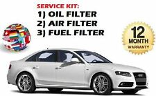 FOR AUDI A4 2.0TDi 1/2008-  SERVICE KIT OIL AIR FUEL FILTER SET 3 FILTERS KIT