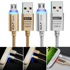 2.1A Micro USB Data Adapter Charging Charger Cable LED Light For Andriod Samsung