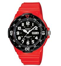 Casio Watch * MRW200HC-4BV Diver Look 100WR Rotating Bezel Red Men COD PayPal