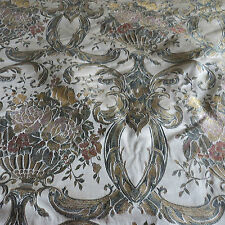 MASSIVE REMNANT Floral Rose Brocade Furnishing Fabric -Gold- Approx 153cm x 2.0M