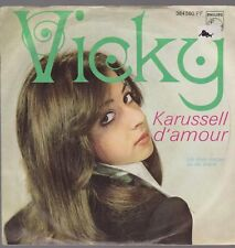 "7"" Vicky Karussell D`amour / Ich male Herzen an die Wand 60`s Philips 384 580 PF"