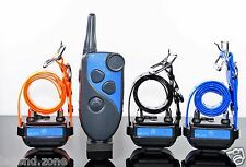 GROOVYPETS 600 M Remote Trainer Waterproof 3- Dog Training Shock Collar System