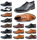 Bruno Homme PRINCE MENS LACE UP WINGTIP OXFORDS CASUAL LEATHER LINED DRESS SHOES