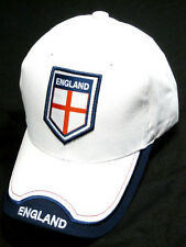 England UK White Soccer Country Hat Cap EMBROIDERED Patch Rhinox World Cup