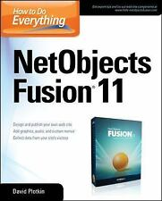 How to Do Everything NetObjects Fusion 11, Plotkin, David, Very Good Book