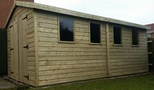 16 x 8 Heavy duty 19mm t&g Tanalised Apex Workshop with FREE STORM CASEMENTS