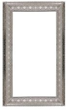 LARGE Antique Silver Metal Moroccan Style Cut Out Rectangle Wall Mirror NEW 75cm