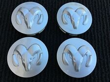 NEW SET OF 4 SILVER DODGE RAM DURANGO DAKOTA CARAVAN WHEEL HUB CAPS 52013985AA