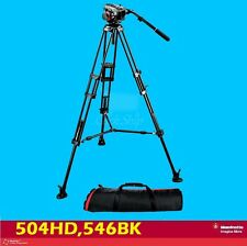 Manfrotto 504HD,546BK Tripod System 504HD Head with 546B Mid-level Spreader Kit