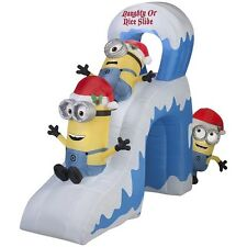 NEW Gemmy Lighted MINION Slide Christmas Inflatable 10' with Tunnel