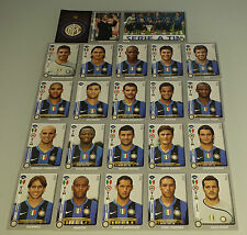 FIGURINE CALCIATORI PANINI 2008-09 SQUADRA INTER CALCIO FOOTBALL ALBUM