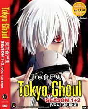 JAPAN DVD Anime Tokyo Ghoul Season 1+2 Complete Series (1-25 End) English Subs