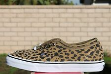 VANS AUTHENTIC SZ 9.5 LEOPARD SUEDE DARK KHAKI OFF THE WALL VN 0YS7EUB