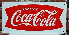 Coca Cola Fishtail SIGN Drink Coke Soda Fountin Bar Collectable Free Shipping